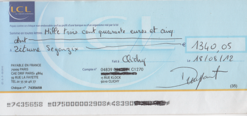 Procedure D Encaissement De Cheque