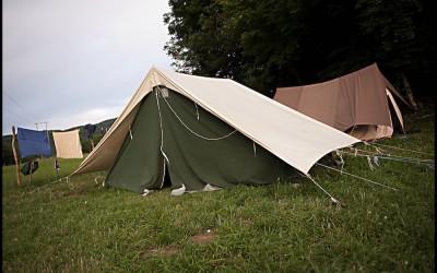 Camp été scout, éclaireur et éclaireuse, Hostias, Ain, juillet 2014.