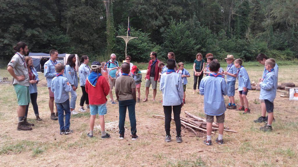 Premier rassemblement du camp - juill 2018