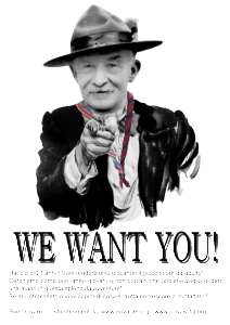 Baden Powell We want you